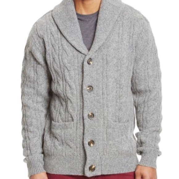 4cb89e4ed2 Jachs Other - Men s Jachs Gray Cable Knit Shawl Cardigan Sweater